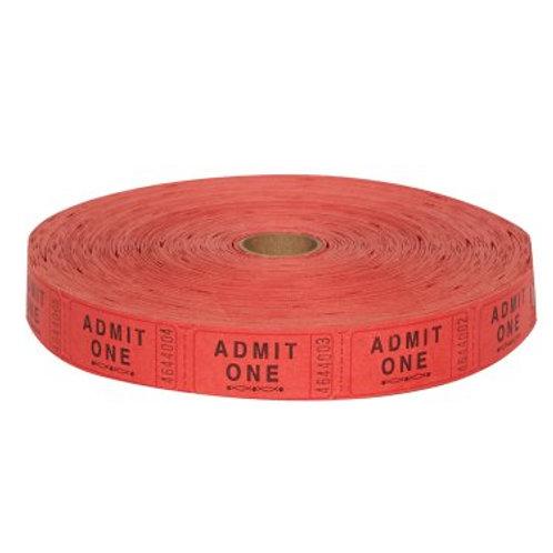 Ticket Adm1 Red 2000Ct