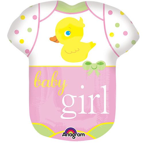 "Balloon Foil 11"" Babysuit Girl"