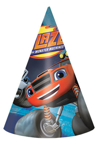 Blaze And The Monster Machines Paper Hat (8Ct)