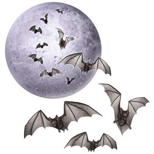 Moon and Bat Cutout