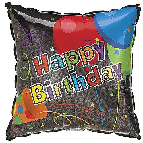 """Balloon Foil 18"""" Birthday Horn"""