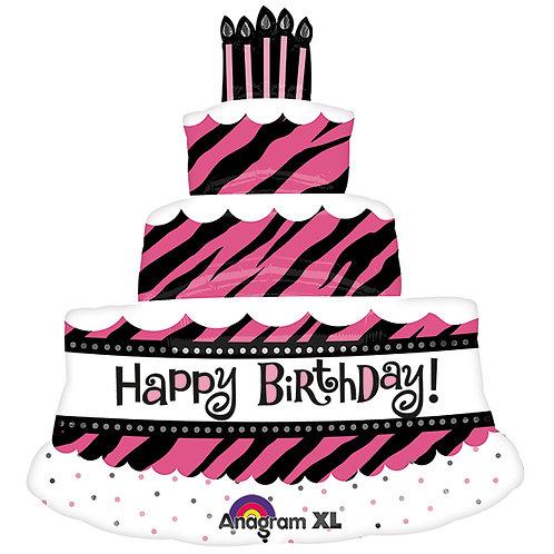 "Balloon Foil 32"" Fab Zebra Cake"