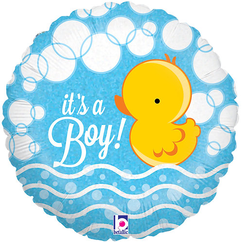 "Balloon Foil 18"" Ducky It's a Boy"