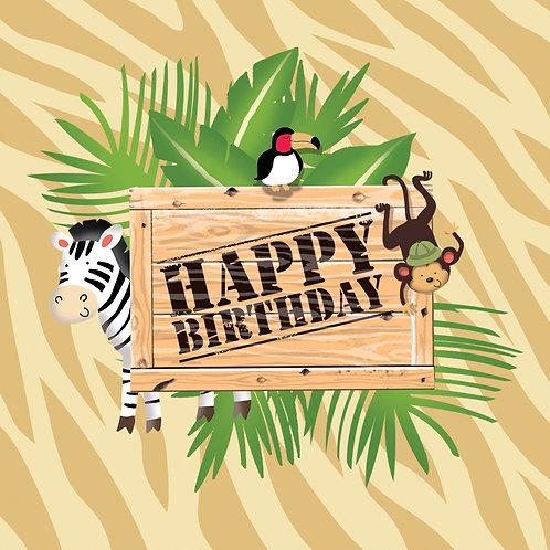 Safari Adventure Luncheon Napkin (16Ct) Happy Bday