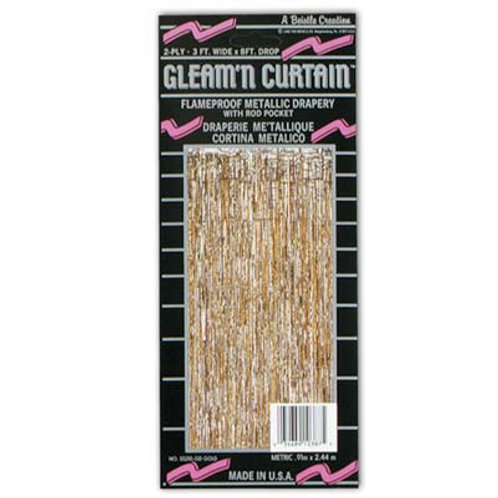 Gold Gleam Curtain 8'