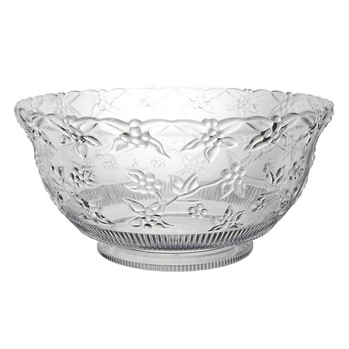 Bowl Punch Embossed - Clear 12Qt