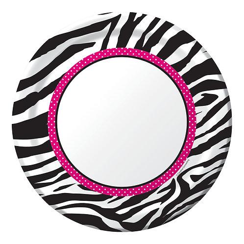 "Pink Zebra Boutique Dinner Plate 8.75"" (8Ct)"