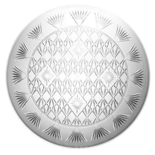 "Diamond Cut Tray 16"" - Clear"