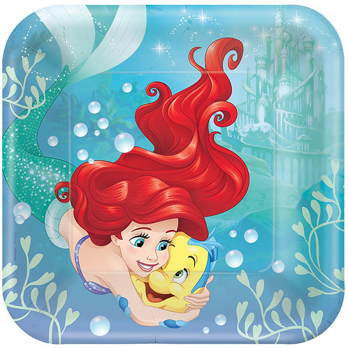 "Ariel - Dream Big 9"" Square Plates (8Ct)"