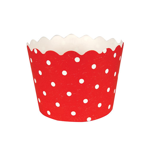 Baking Cups Polka Dot Bake Cup - Classic Red (12 ct)