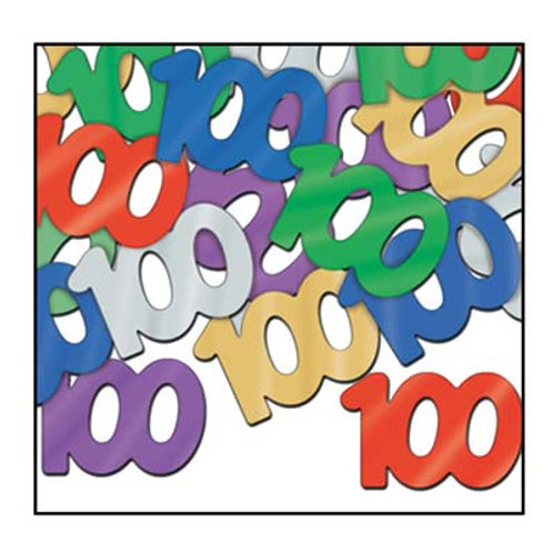 """Multi-Colored """"100"""" Confetti"""