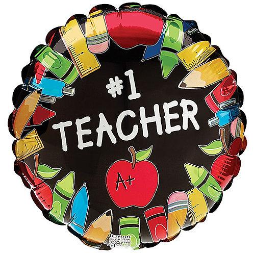 """Balloon 9"""" #1 Teacher"""