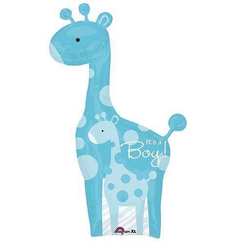 """Balloon 42"""" Boy Giraffe Blue"""