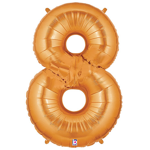 """Balloon Foil 40"""" Number 8 Gold"""