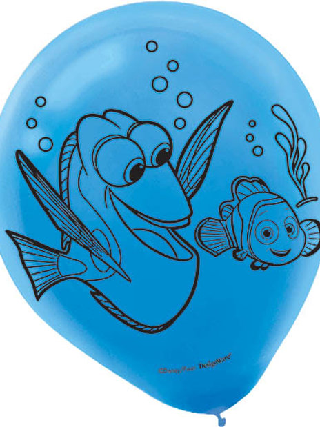 Finding Dory Latex Balloon (6Ct)