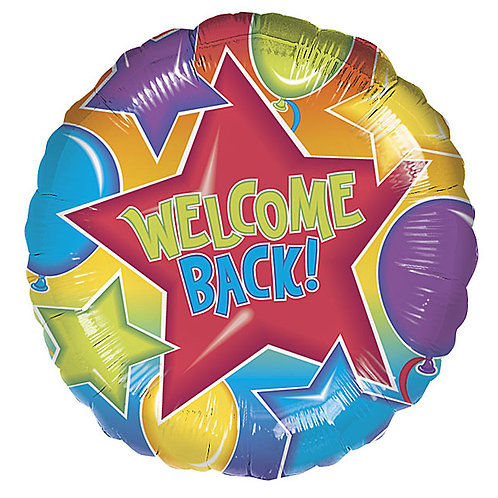 """Balloon Foil 18"""" Welcome Back"""