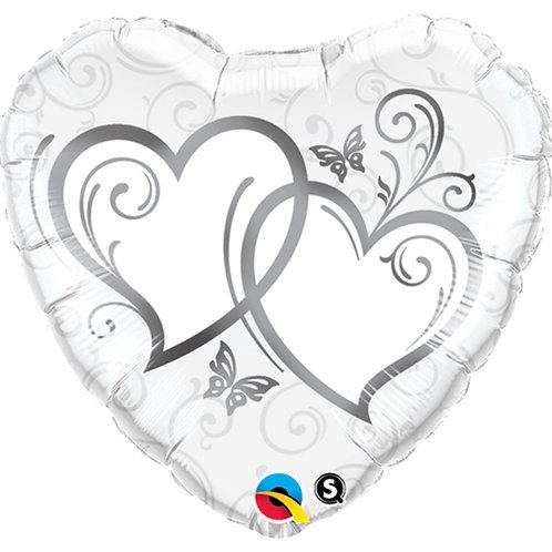 "Balloon Foil 18"" Silver Heart"