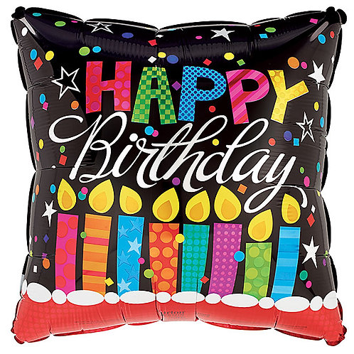 """Balloon Foil 17"""" Happy Birthday Candle"""