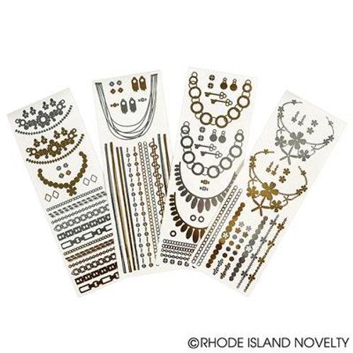 """2.5""""X8"""" Metallic D.I.Y. Jewelry Tattoos"""