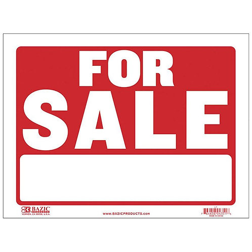 """12"""" x 16"""" For Sale Sign"""