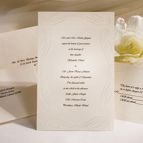 Invite Kit Love Begins Ivory 50Ct