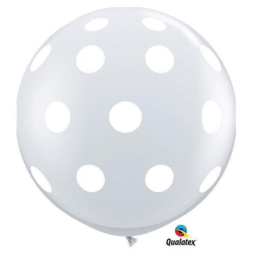 Balloon Latex 3' Polka Dots Clear