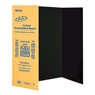 "36"" X 48"" Black Tri-Fold Corrugated Presentation Board"