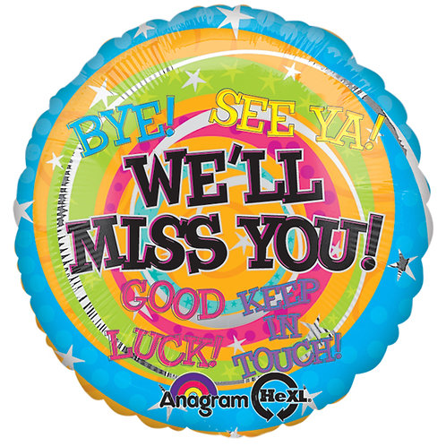 """Balloon Foil 18"""" We'll Miss You"""