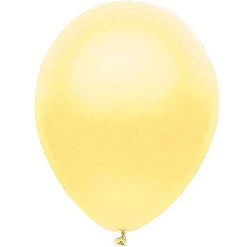"Balloon Latex 11"" Pearl Yellow 100C"