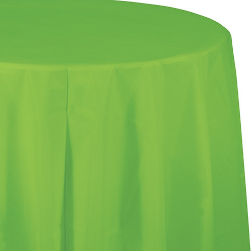 "Fresh Lime Tablecover 82"" Octy  Rnd"