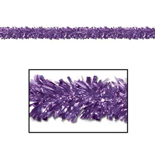 Purple Christmas Tinsel Garland 15'