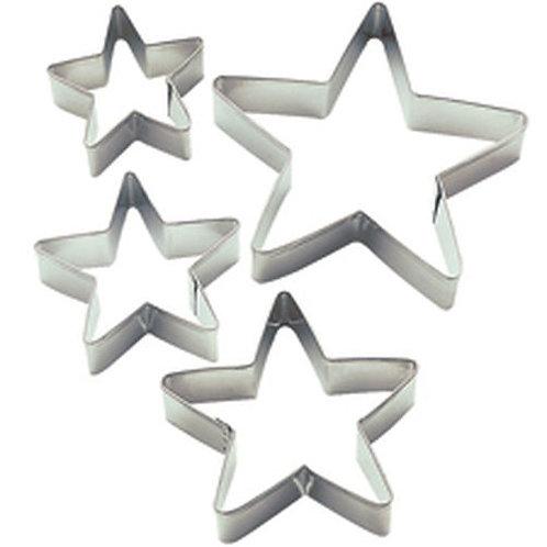4Pc Nesting Metal Stars Set