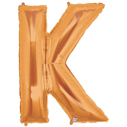 """Balloon Foil 40"""" Letter """"K"""" Gold"""