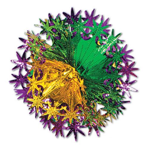 "12"" Foil Star Ball Purple Yellow & Green"