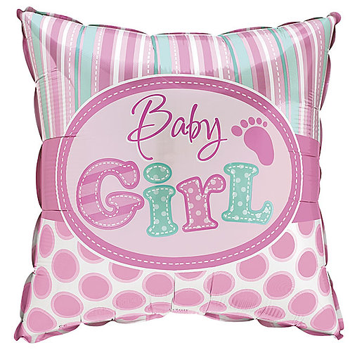 "Balloon 18"" Baby Girl Dots"