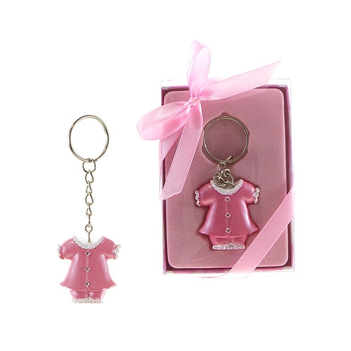 Favor Keychain Baby Clothing Pink