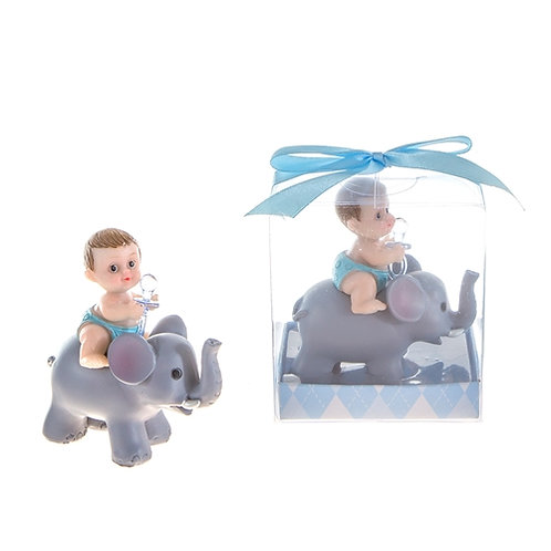 Favor Baby With Elephant Blue