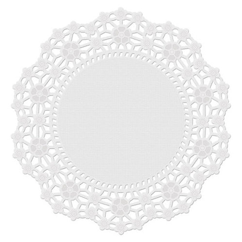 6 In Doilies White