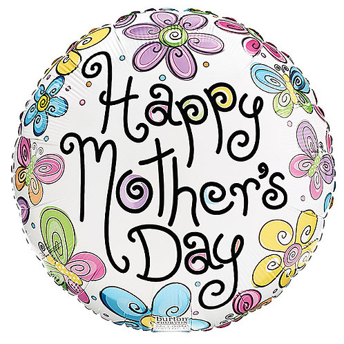 "Balloon 9"" Happy Mothers Day Garden"