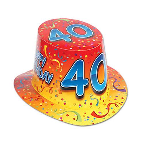 40th Birthday Hat Top