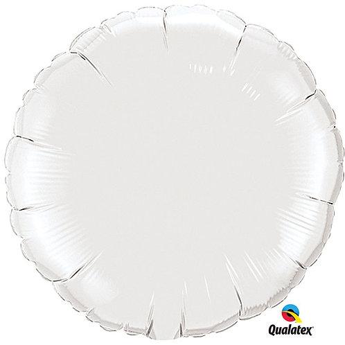 """Balloon Foil 18"""" Round White"""