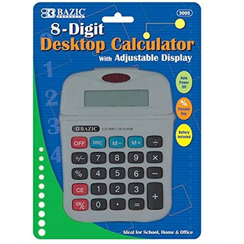 8-Digit Calculator with Adjustable Display