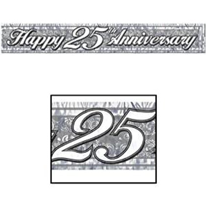 """""""25th"""" Anniversary Fringed Banner"""