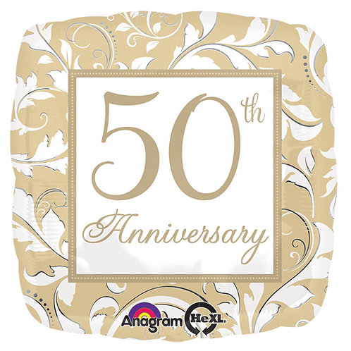 """Balloon Foil 18"""" 50Th Anniversary"""