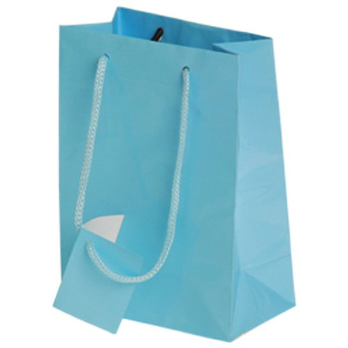 Small Gift Bag Lt Blue 12Ct