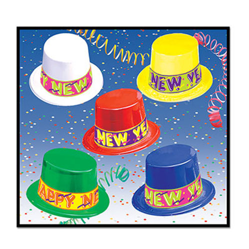 Assorted Happy New Year Topper Hat