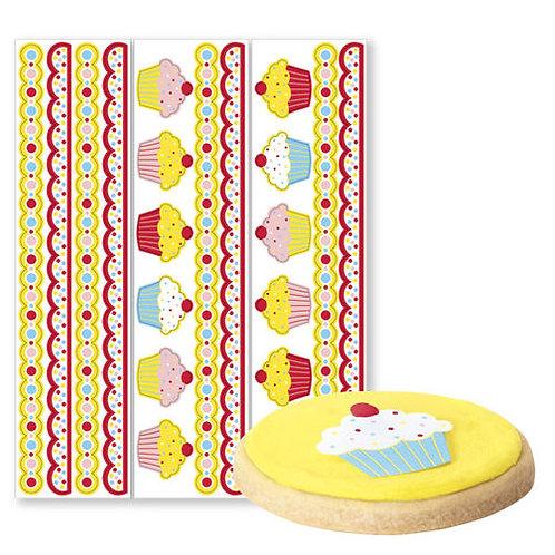 Cupcake Borders W Stickers