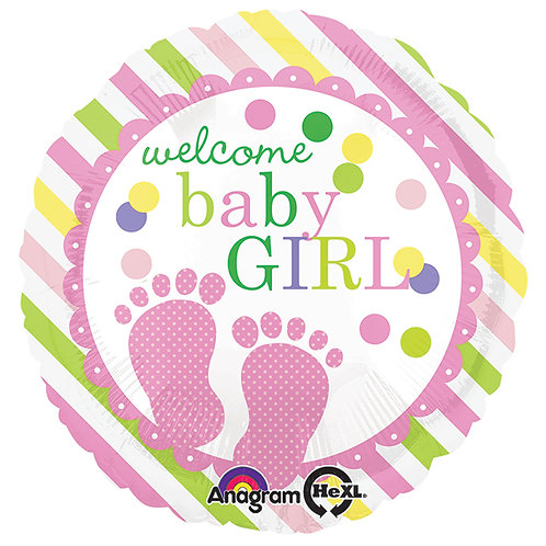 "Balloon Foil 17"" Baby Girl Feet"