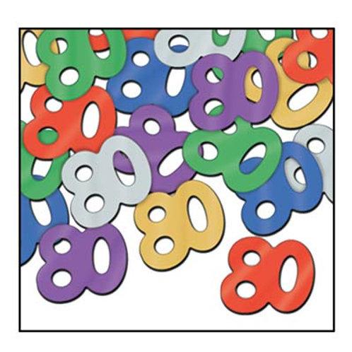 """Multi-Colored """"80"""" Confetti 5 oz"""