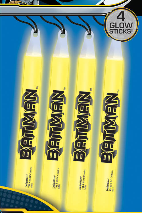 Batman Glow Sticks  4Ct